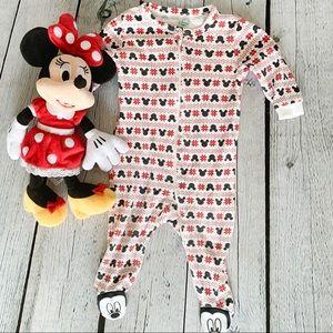 Disney Unisex Mickey Mouse Footie Bodysuit